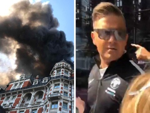 Robbie Williams describes terrifying moment he was told to flee burning London hotel