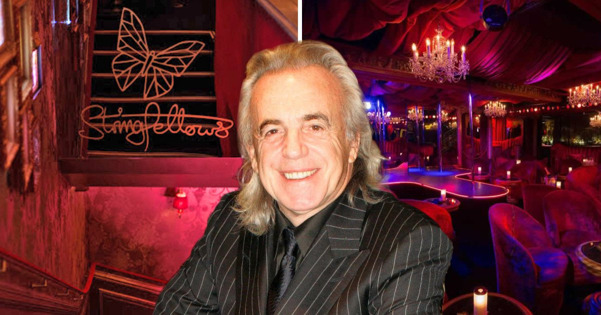 Inside Stringfellows London – the lap dancing clubs Peter Stringfellow  masterminded after his brief prison spell