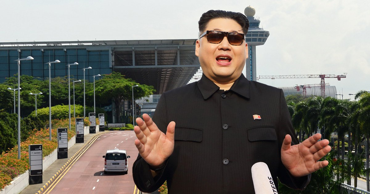 Kim Jong Un lookalike stopped at Singapore Airport days before Trump visit