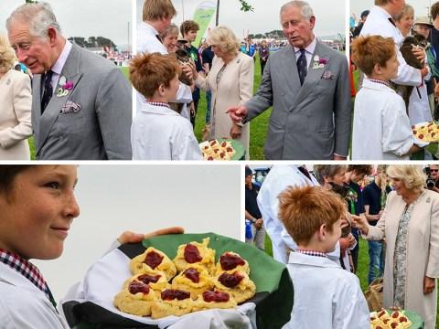 Turmoil in Cornwall as Prince Charles is served a Devon cream tea