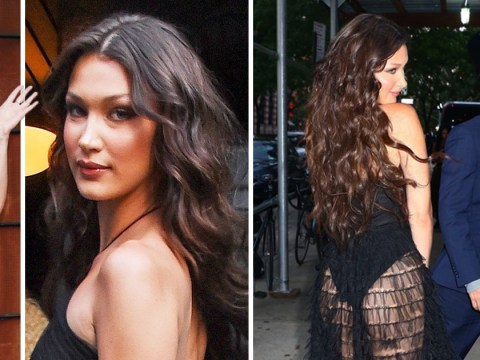 Bella Hadid is clearly feeling herself after reuniting with The Weeknd as she works sheer dress