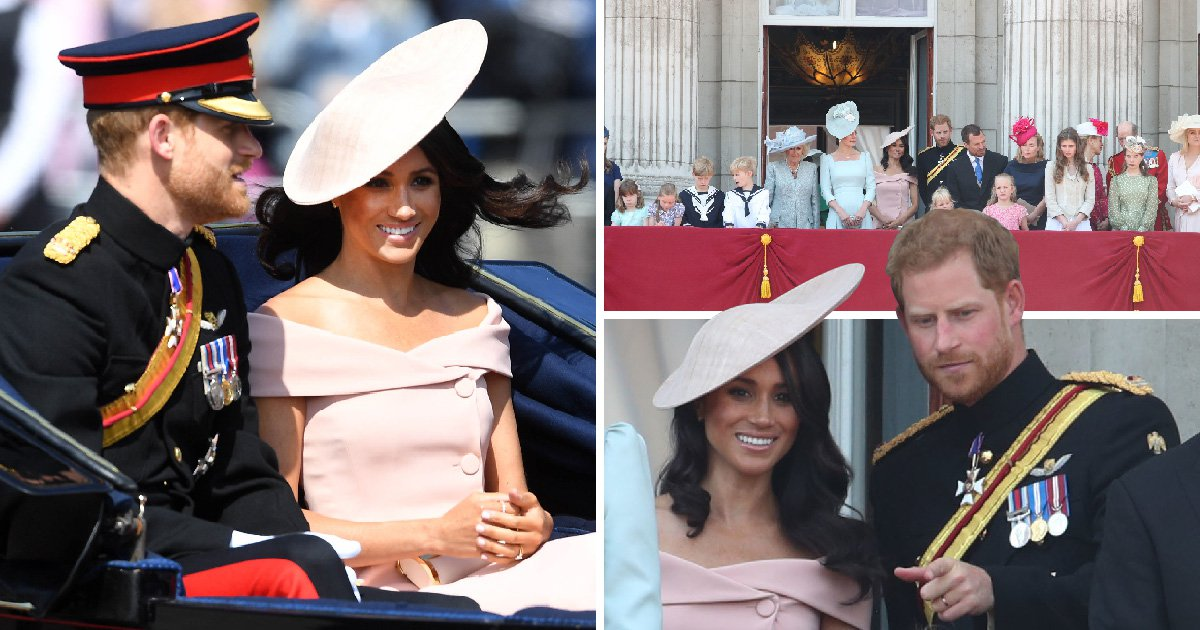 Meghan and Harry join Queen on her birthday for Trooping the Colour