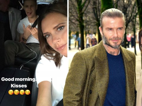 Victoria Beckham posts cosy selfie with son Romeo after being forced to deny David divorce