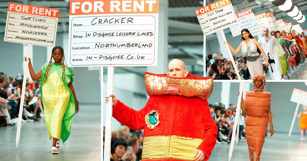 Fashion designers send actual fancy dress outfits down runway at London Fashion Week Men's