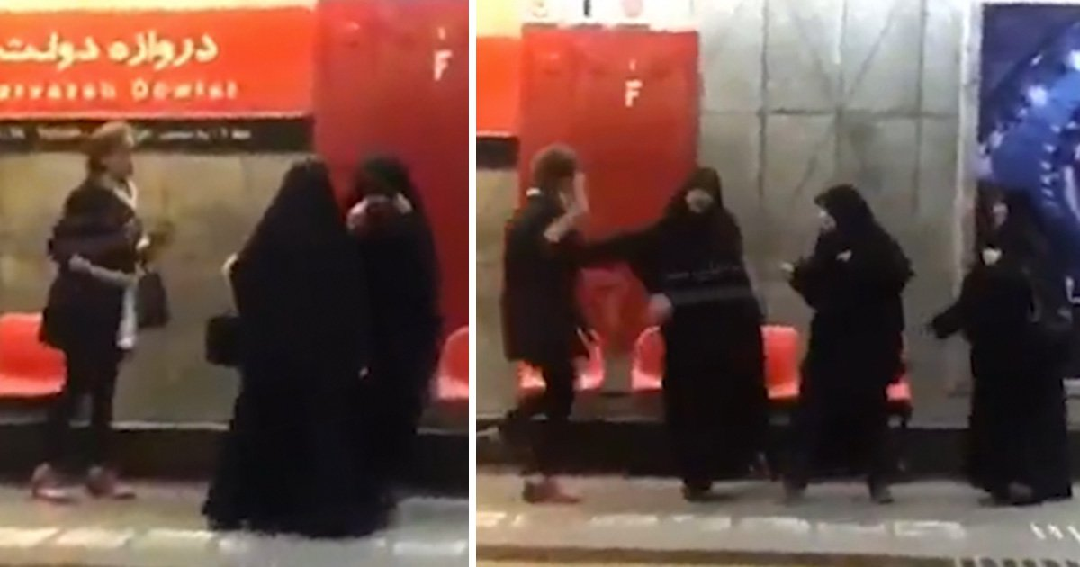 Woman fights back against morality police who told her to put on hijab