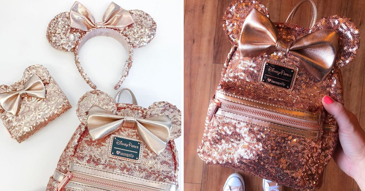 31312a873bd You can now buy a super cute sparkly rose gold Disney backpack ...