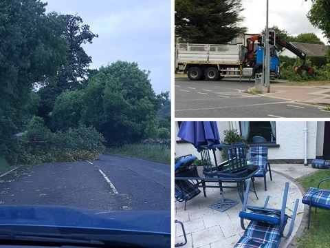 Storm Hector smashes into Britain with 100mph winds posing 'danger to life'