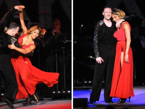 Strictly Come Dancing's Kevin and Karen Clifton tenderly embrace as they put on red hot performance