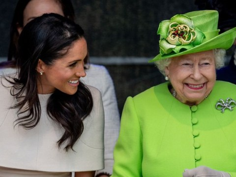 Meghan Markle joins the Queen for her first royal engagement with out Harry