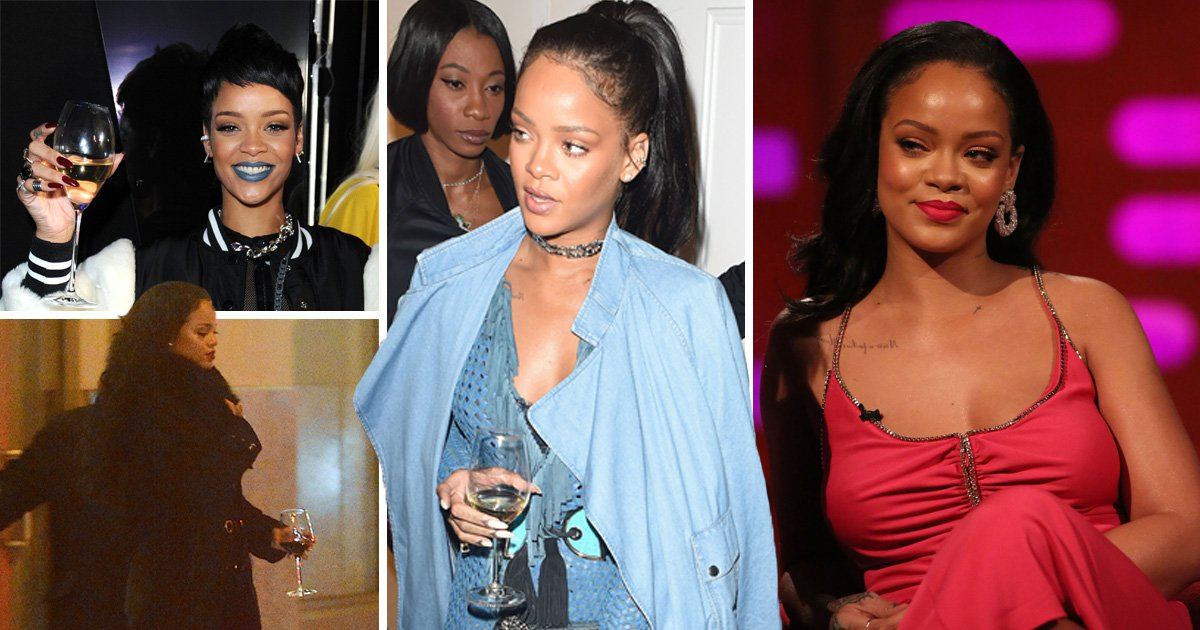 Rihanna addresses her love of always having a wine glass in hand