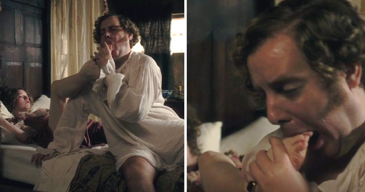 Poldark viewers get grossed out at Reverend Whitworth gobbling on toes in foot fetish scene