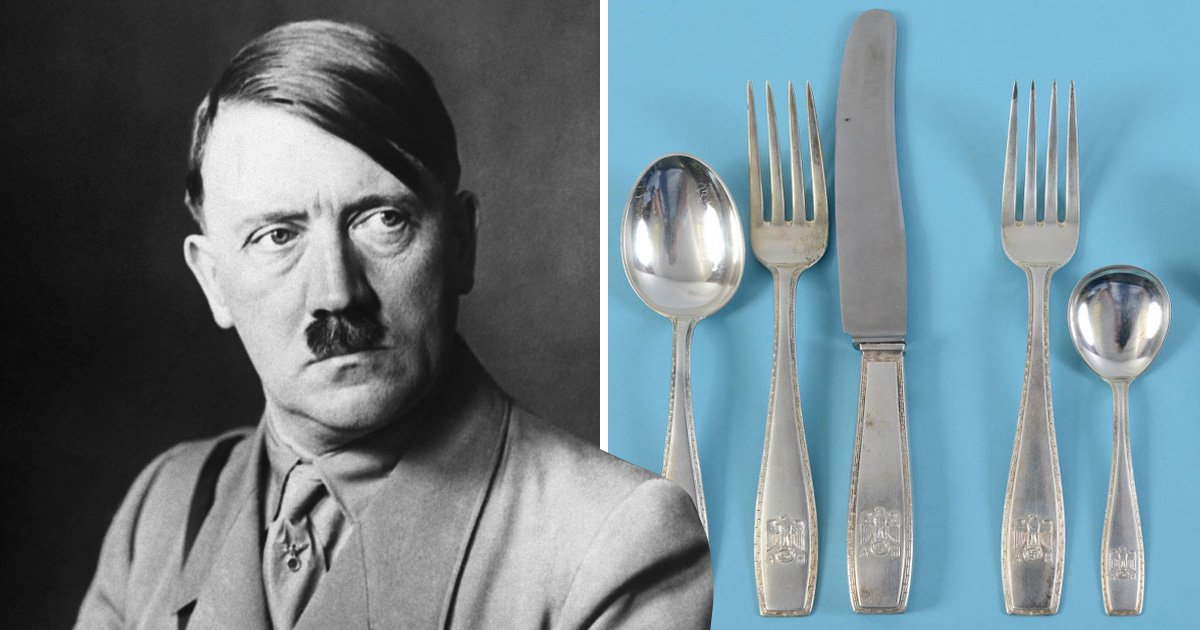 Adolf Hitler's Nazi cutlery goes on sale for £1,000