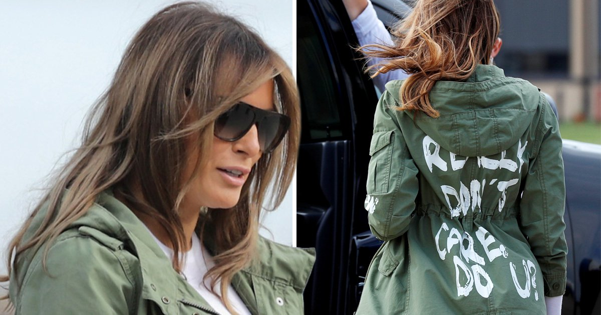 Melania 'deliberately' wore 'I don't care' jacket to meet child migrants