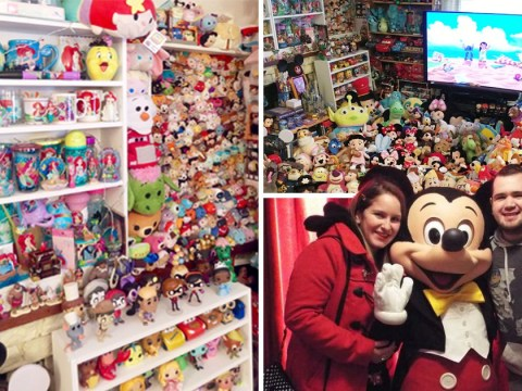 This couple love Disney so much they've spent £30,000 on collection and can't see their floor