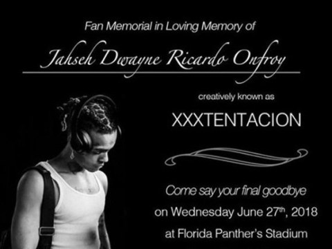 XXXTentacion's family announce public viewing and memorial to be held next week