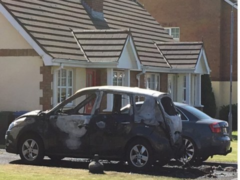 Car set on fire and petrol bomb thrown at house in Londonderry