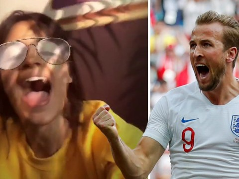 Camila Cabello joins English football hysteria as she cheers on Harry Kane's World Cup win