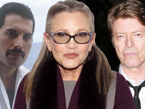 Shocking new claims allege 17-year-old Carrie Fisher 'had affairs with David Bowie and Freddie Mercury'