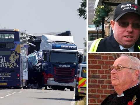 Police name driver and passenger killed in crash between bus and lorry