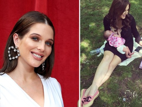 Helen Flanagan relishing life as a mother as she breastfeeds baby daughter in park