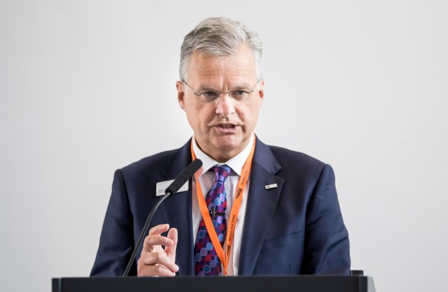 Chief executive of Network Rail Mark Carne outlines plans for using more digital technology on Britain's railways during a visit to the training development centre at the Rail Operating Centre in York. PRESS ASSOCIATION Photo. Picture date: Thursday May 10, 2018. All new trains and rail signalling will be digital or digital-ready from next year to reduce overcrowding and cut delays. See PA story RAIL POLITICS Digital. Photo credit should read: Danny Lawson/PA Wire