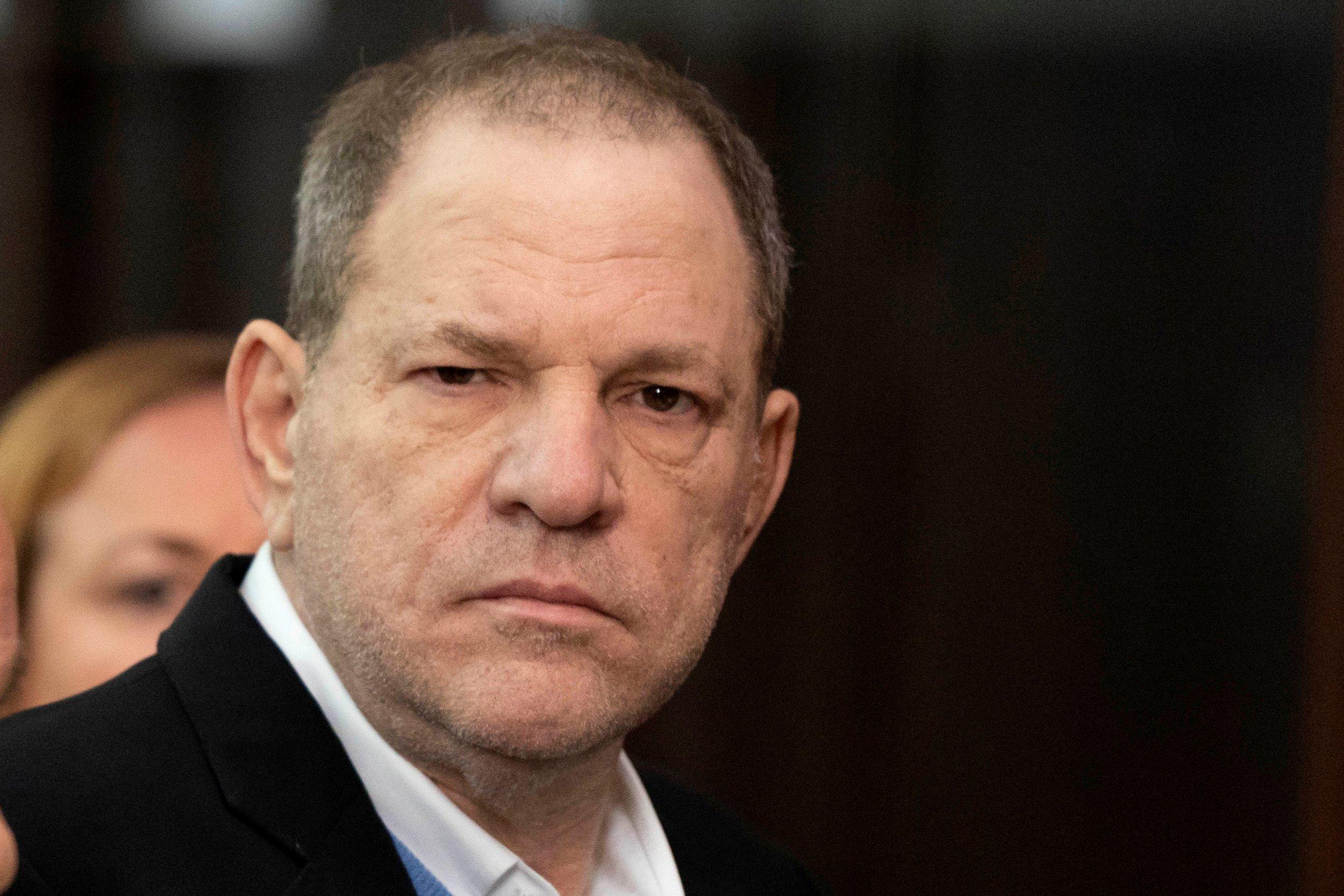 Film producer Harvey Weinstein stands inside Manhattan Criminal Court during his arraignment in Manhattan in New York, U.S., May 25, 2018. Steven Hirsch/Pool via REUTERS
