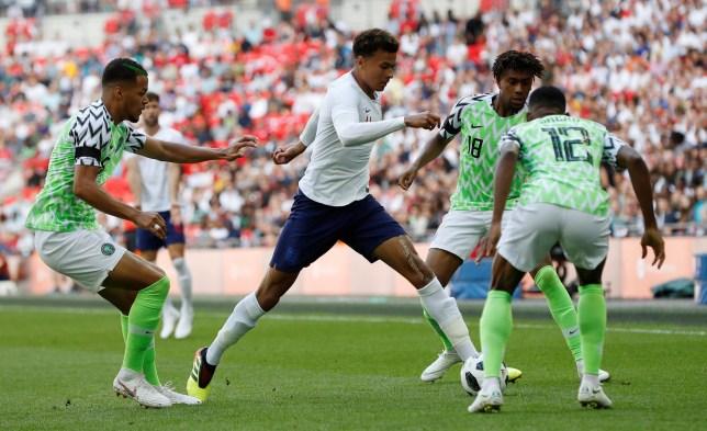 Soccer Football - International Friendly - England vs Nigeria - Wembley Stadium, London, Britain - June 2, 2018 England's Dele Alli in action with Nigeria???s Abdullahi Shehu REUTERS/Darren Staples
