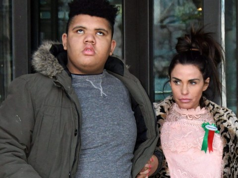 Katie Price hits out at man who pokes fun at son Harvey with insensitive Christmas jumper