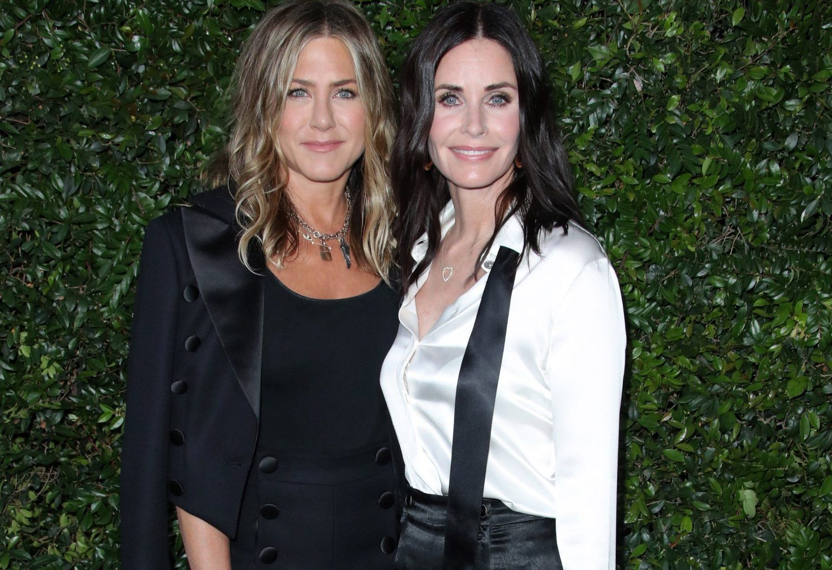 Jennifer Aniston and Courteney Cox are friendship goals at swanky Chanel party