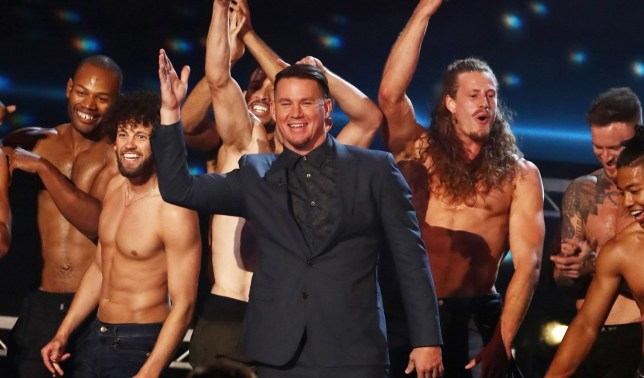 Editorial Use Only - No Merchandising Mandatory Credit: Photo by Dymond/Thames/Syco/REX/Shutterstock (9699621jf) Channing Tatum with Magic Mike The Musical 'Britain's Got Talent' TV show, Series 12, Episode 13, The Final, London, UK - 03 Jun 2018