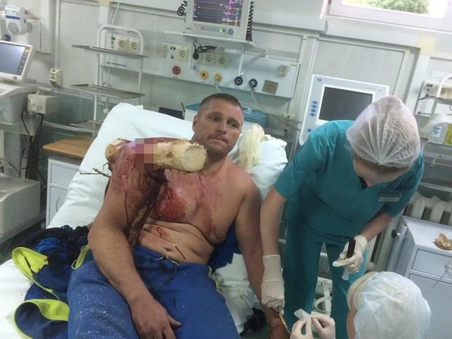 Ivan Krasouski in hospital