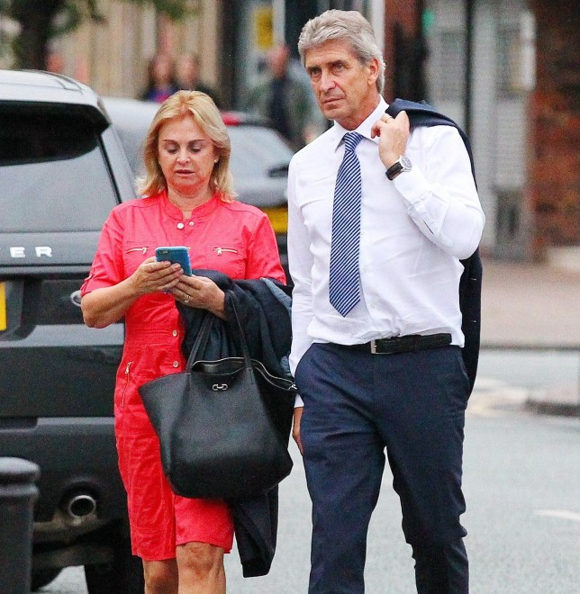 ******STOCK PICTURE*******16.8.15. The Manchester City manager Manuel Pellegrini looks relaxed as he arrives at Piccolino Restaurant in Hale Village in Cheshire with his family on Sunday night after his team beat Chelsea FC 3-0.