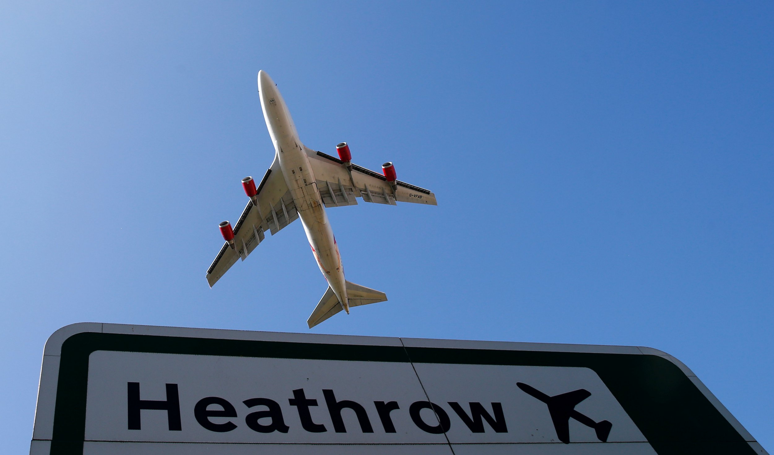 FILE PHOTO: An aircraft takes off from Heathrow airport in west London September 2, 2014. REUTERS/Andrew Winning/File Photo
