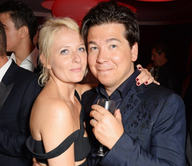 CAP D'ANTIBES, FRANCE - MAY 22: Kitty McIntyre (L) and Michael McIntyre attend amfAR's 21st Cinema Against AIDS Gala after party presented by WORLDVIEW, BOLD FILMS, and BVLGARI at Hotel du Cap-Eden-Roc on May 22, 2014 in Cap d'Antibes, France. (Photo by Dave M. Benett/amfAR14/WireImage)