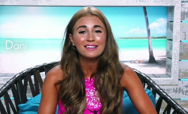 Islanders are worried about witch girl Adam is going to choose to couple up with on 'Love Island'. Broadcast on ITV2 Featuring: Dani Dyer When: 04 Jun 2018 Credit: Supplied by WENN **WENN does not claim any ownership including but not limited to Copyright, License in attached material. Fees charged by WENN are for WENN's services only, do not, nor are they intended to, convey to the user any ownership of Copyright, License in material. By publishing this material you expressly agree to indemnify, to hold WENN, its directors, shareholders, employees harmless from any loss, claims, damages, demands, expenses (including legal fees), any causes of action, allegation against WENN arising out of, connected in any way with publication of the material.**