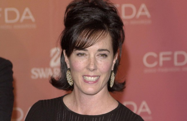 FILE PHOTO: Kate Spade arrives at the Council of Fashion Designers of America awards in New York on June 2, 2003, at the New York Public Library. REUTERS/Chip East/File Photo