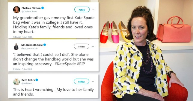 Celeb world reacts to designer Kate Spade's death