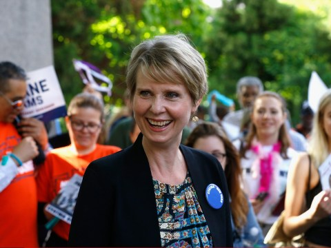 There is actually SATC merch for Cynthia Nixon's campaign for office and we want it all
