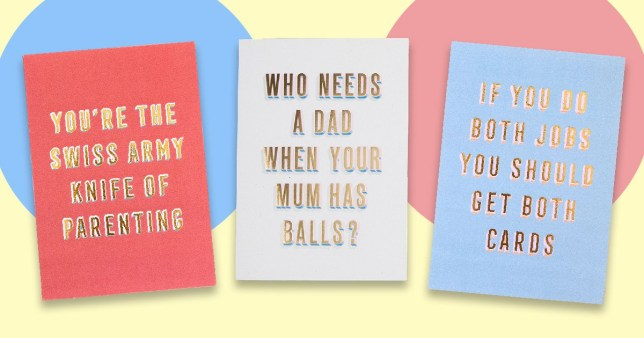 Paperchase is selling Fathers Day cards for mus's for the first time
