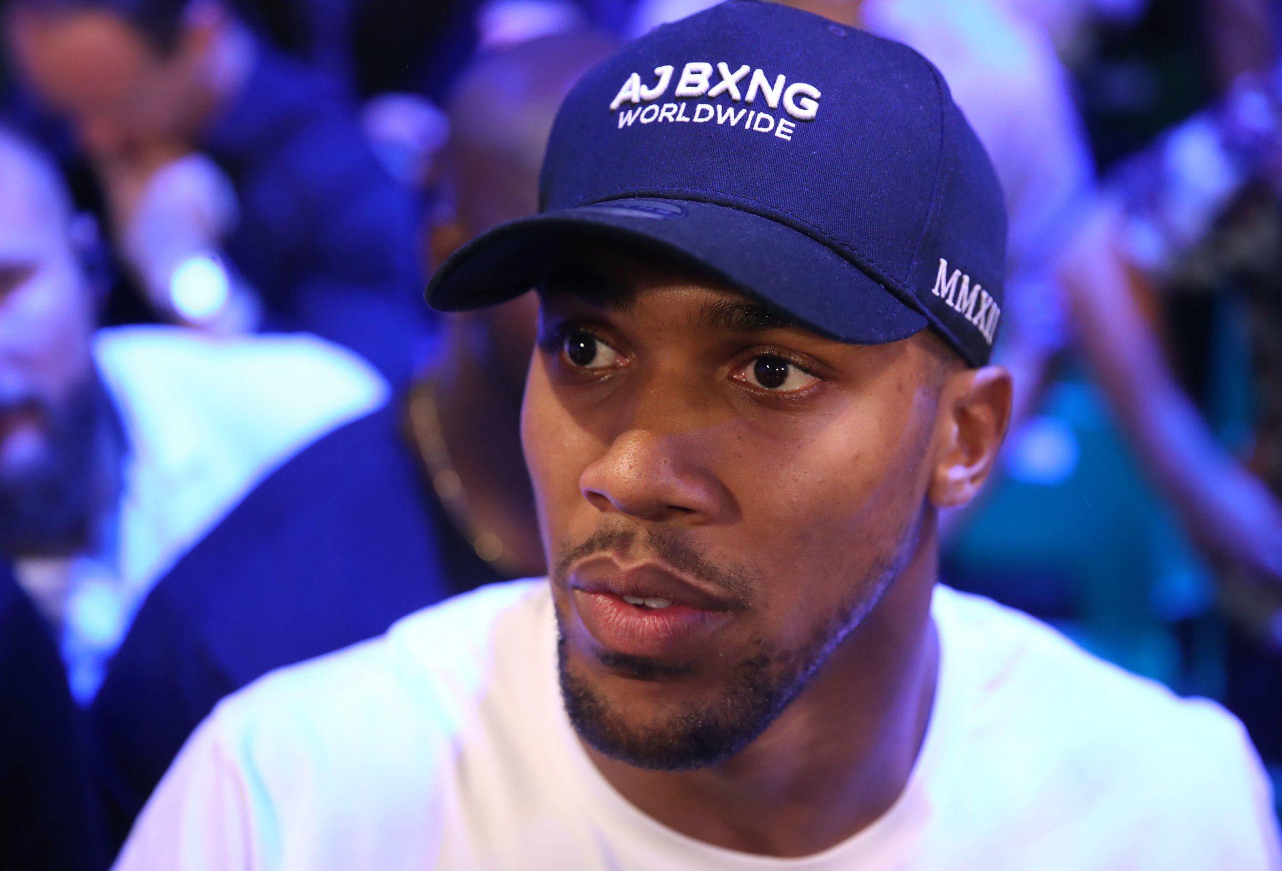 Anthony Joshua ringside at York Hall, London. PRESS ASSOCIATION Photo. Picture date: Wednesday June 6, 2018. See PA story BOXING London. Photo credit should read: Adam Davy/PA Wire
