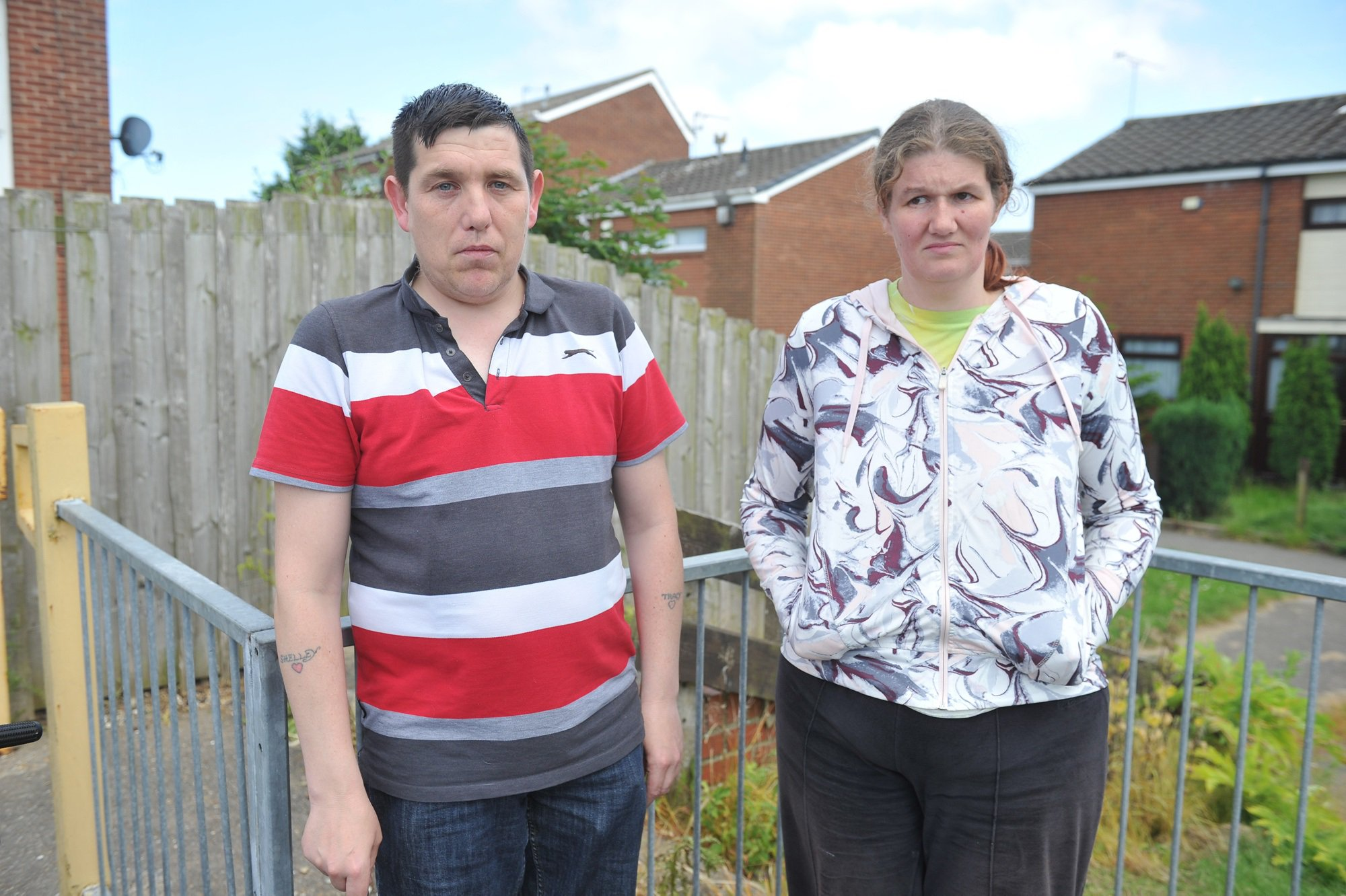 Two friends with learning difficulties have spoken of their terror after being chased and pelted with stones by vile youths in an alleged ?hate crime? attack. Chris Johnson, 43, and Heidi Fraser, 33, were targeted by two boys and a girl who began abusing the pair outside Nisa in Wawne Road, Hull, on Monday night.
