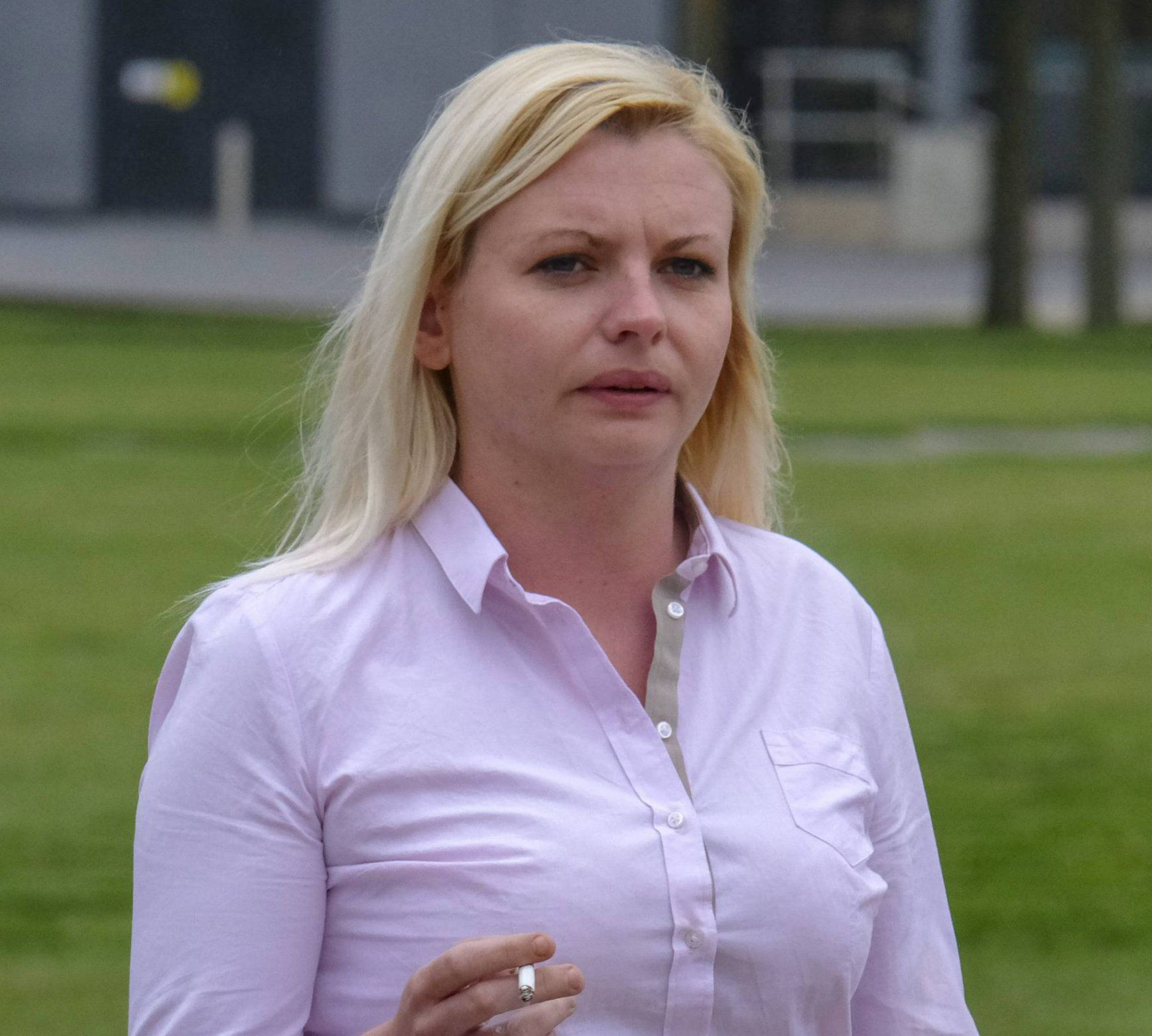 Dated: 08/06/2018 Sarah Bramley arrives at Teesside Crown Court this morning (FRI), where she pleaded not guilty to incitement in relation to the murder of Michael Lawson, for which Bramley's former boyfriend David Saunders was convicted last December. She will stand trial in October. SEE VIDEO & COPY FROM NORTH NEWS