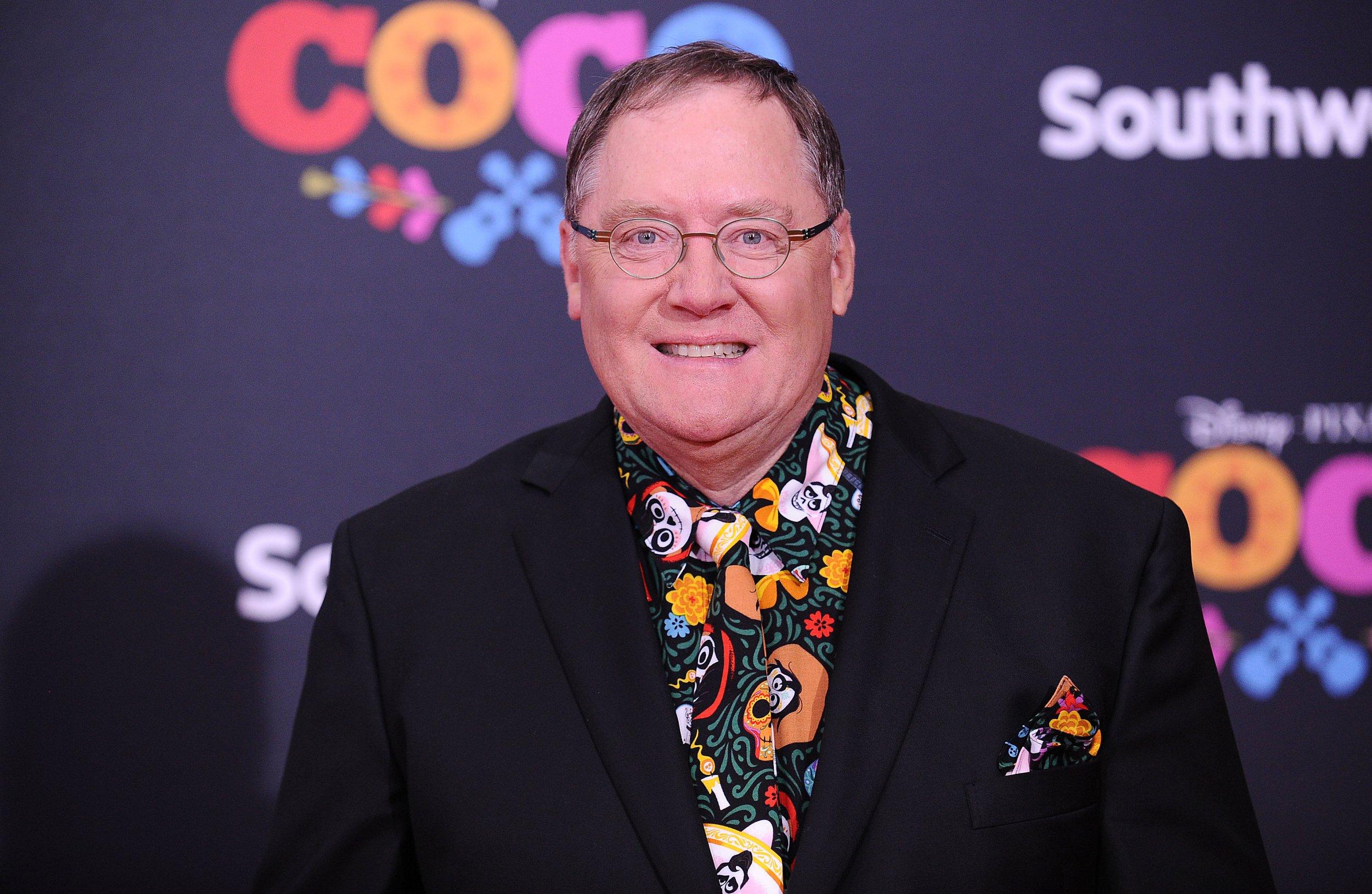 "LOS ANGELES, CA - NOVEMBER 08: John Lasseter attends the premiere of ""Coco"" at El Capitan Theatre on November 8, 2017 in Los Angeles, California. (Photo by Jason LaVeris/FilmMagic)"