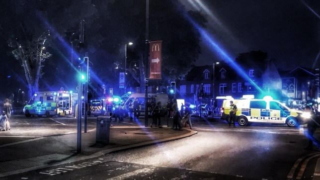 "A man in his 30s has died after a stabbing in north London. Officers were called to Green Lanes near Turnpike Lane station at about 9.45pm on Saturday where they found a ""seriously injured"" man. He was pronounced dead at the scene. (Picture: @Electra_Edward/Twitter)"
