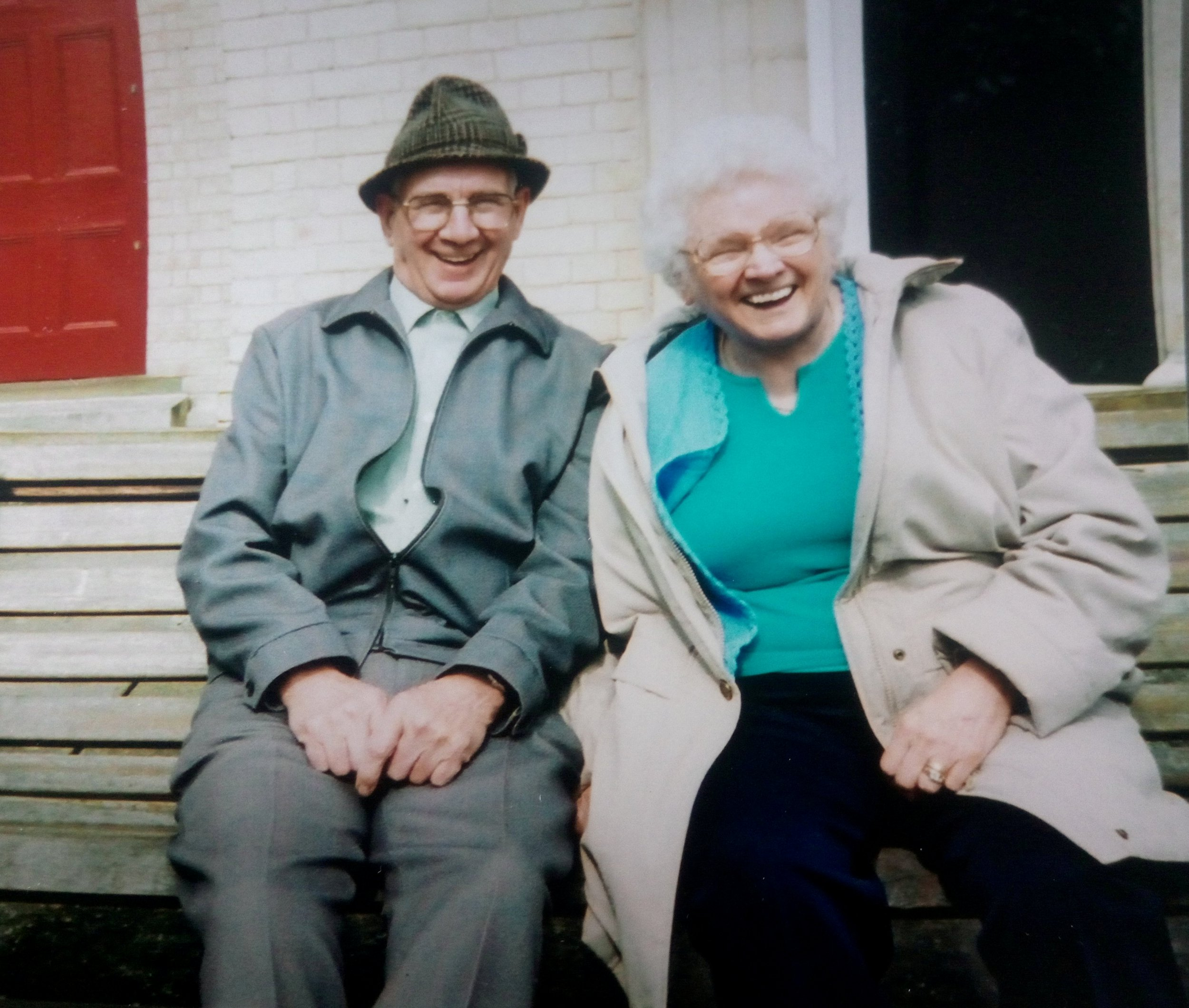 """Arnold, 89 and Amy,92 Hardy who died within days of each other. See Ross Parry copy RPYCOUPLE: A devoted elderly couple married for nearly 50 years died within days of each other because """"they could not bear to be apart"""". Arnold Hardy, 89, heartbreaking died without saying goodbye to his beloved wife Amy, 92, who passed away 10 days later. The pair both lived in different nursing homes and she was never told of his death but sensed ???something was wrong???, according to family. In a fitting tribute to the dedicated couple, their ashes are now buried in plots side-by-side at a churchyard in Warsop, Notts."""