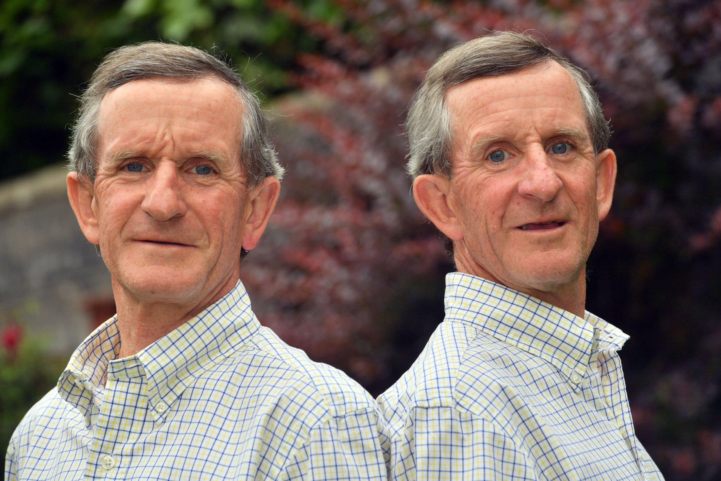 l-r Twins Michael and Howard Jones, Lisvane, who used to work at Howells and House of Fraser in Cardiff. pic by Rob Browne