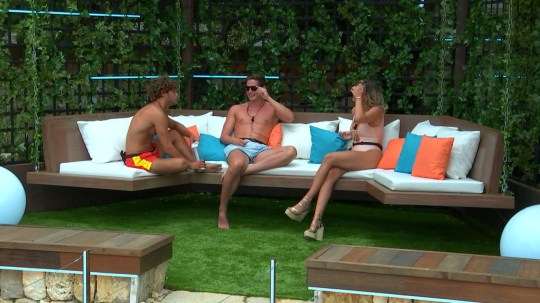 From ITV Studios Love Island: SR4: Ep8 on ITV2 Pictured: The three new Islanders ??? Charlie, Josh and Megan ??? are settling into their new surroundings. This photograph is (C) ITV Plc and can only be reproduced for editorial purposes directly in connection with the programme or event mentioned above, or ITV plc. Once made available by ITV plc Picture Desk, this photograph can be reproduced once only up until the transmission [TX] date and no reproduction fee will be charged. Any subsequent usage may incur a fee. This photograph must not be manipulated [excluding basic cropping] in a manner which alters the visual appearance of the person photographed deemed detrimental or inappropriate by ITV plc Picture Desk. This photograph must not be syndicated to any other company, publication or website, or permanently archived, without the express written permission of ITV Plc Picture Desk. Full Terms and conditions are available on the website www.itvpictures.co.uk For further information please contact: james.hilder@itv.com / 0207 157 3052