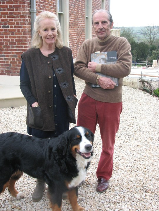 File photo dated 25/03/09 of members of the Bulmers cider family Susie and Esmond Bulmer with their dog Echo, who were victims of a burglary in 2009. Eleven men have gone on trial in connection with a multi-million pound raid at the family's sprawling home in Somerset. PRESS ASSOCIATION Photo. Issue date: Wednesday June 13, 2018. See PA story COURTS Art. Photo credit should read: Ben Birchall/PA Wire