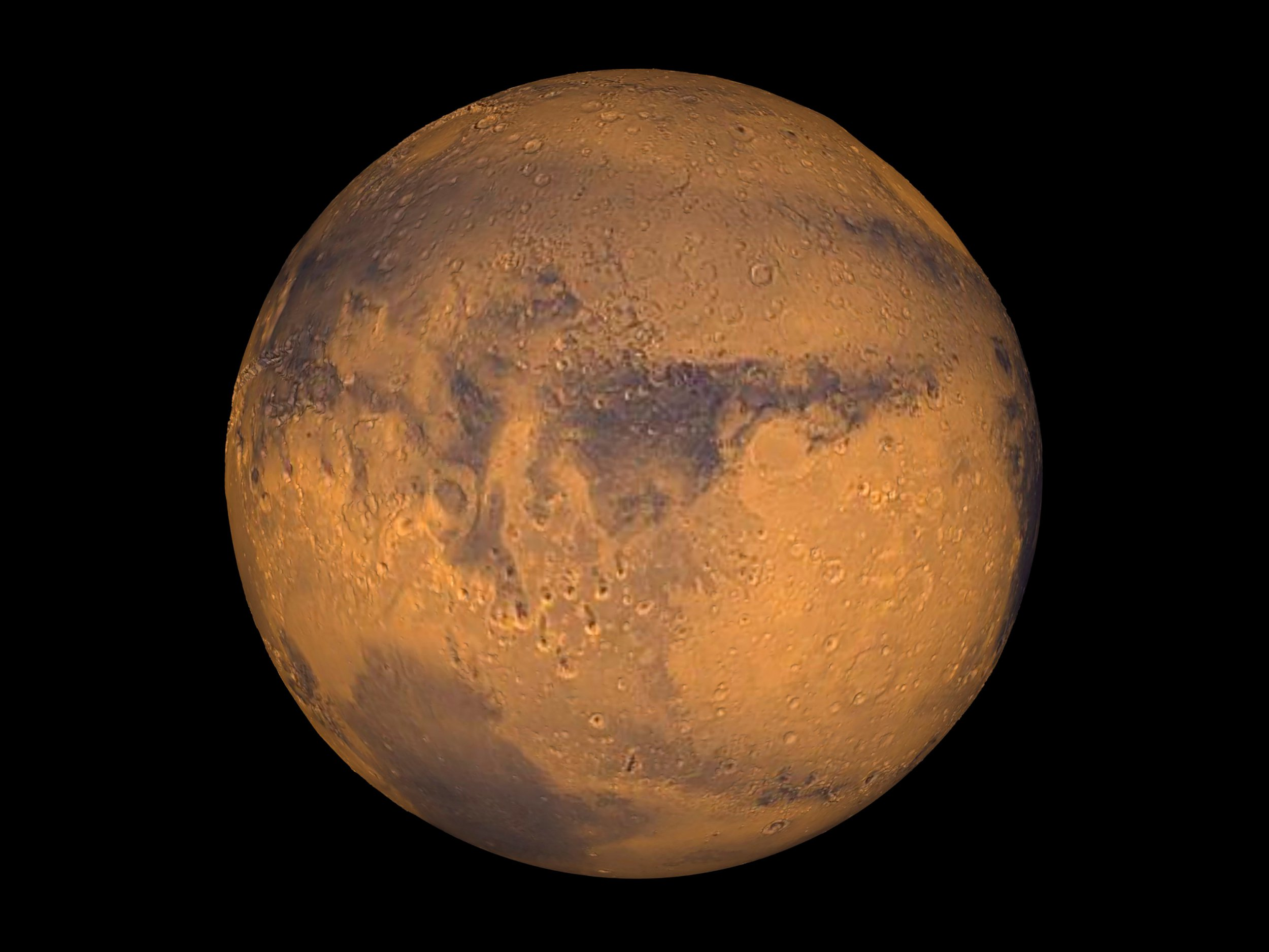 FILE PHOTO: The planet Mars showing showing Terra Meridiani is seen in an undated NASA image. NASA will announce a major science finding from the agency?s ongoing exploration of Mars during a news briefing September 28 in Washington REUTERS/NASA/Greg Shirah/Handout THIS IMAGE HAS BEEN SUPPLIED BY A THIRD PARTY. IT IS DISTRIBUTED, EXACTLY AS RECEIVED BY REUTERS, AS A SERVICE TO CLIENTS. FOR EDITORIAL USE ONLY. NOT FOR SALE FOR MARKETING OR ADVERTISING CAMPAIGNS