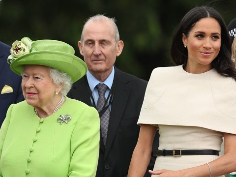 Meghan Markle wears cream Givenchy dress for first solo royal engagement with the Queen to Cheshire